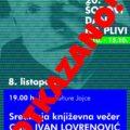 OTKAZIVANJE: Središnje književne večeri s Ivanom Lovrenovićem